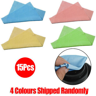 15x Microfiber Cleaning Cloths Camera Lens Phone Screen Glasses Dust Cleaner UK