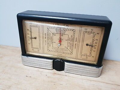 Taylor Baroguide 1940 Art Deco Bakelite Weather Station
