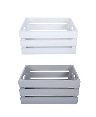 Great Value Light Wooden Crates Retail Dis Storage Box Shelves Racks Gift Hamper