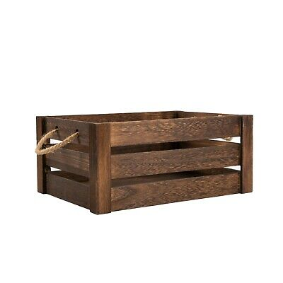 Strong Rope Handle Display Storage Wooden Crate shelve Box Christmas Gift Hamper