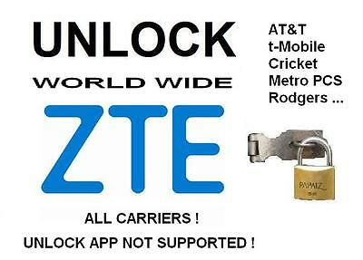 ZTE Z851 - Prelude + |  CRICKET Unlock code, all IMEI