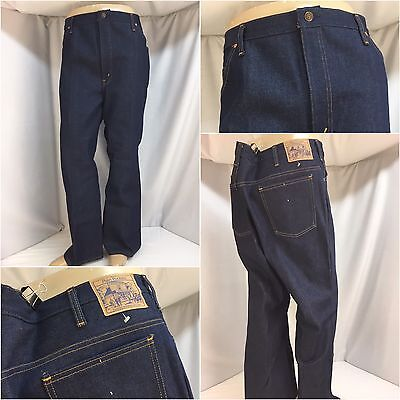01ebe19ea47 JC Penney Plain Pockets Jeans 42x29 Dark Wash Straight Made In USA NWOT YGI  5443