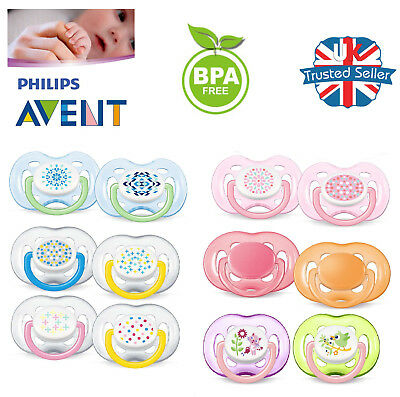 Philips Avent Baby Soother Dummy Nipple 0-6m / 6-18m Pacifier Free Flow