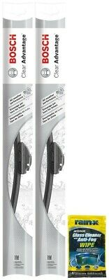 "Bosch 22"" Clear Advantage Wiper Blades (2 Pack) & Rain-X Glass Cleaner Wipe"