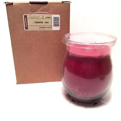 2 Wick Cinnamon Cider Jar Candle 23 oz Longaberger New