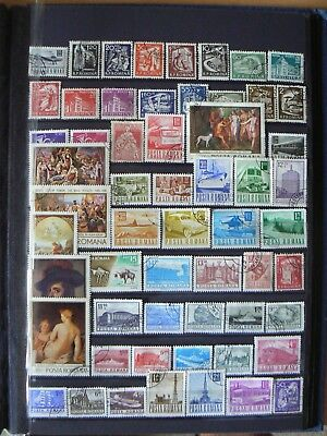 Collection Of Romania Romanian Romana Stamps