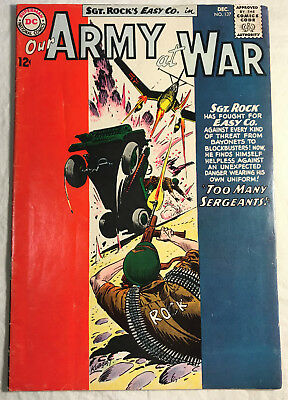 Our Army at War 137 (Dec., 1963) DC 5.5-6.0 comic book