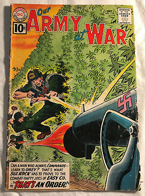Our Army at War 110 (Sep., 1961) DC 4.5-5.0 comic book