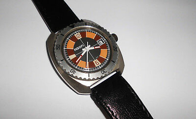 Alte Herren ⌚ AGON Taucheruhr 70er Vintage Diver Handaufzug Swiss for repair rar