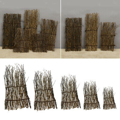 10x Bamboo Peeled Reed Screening Roll Garden Screen Fence Fencing Decor 13-30cm