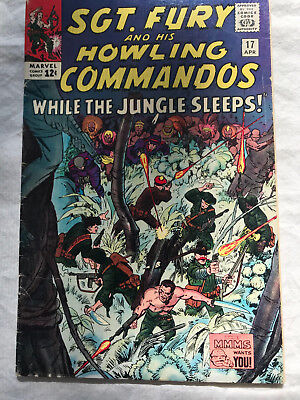 Sgt. Fury and His Howling Commandos 17 (Apr., 1965) Marvel 6.0-6.5 comic book