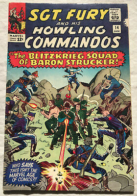 Sgt. Fury and His Howling Commandos 14 (Jan., 1965) Marvel 6.0-6.5 comic book