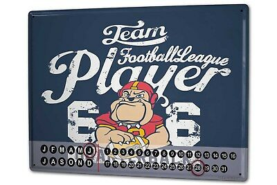 Dauer Wand Kalender Fun  LA Football Metall Magnet