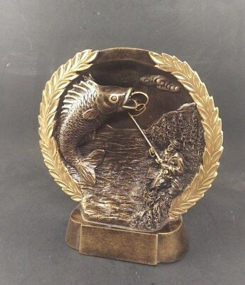 FISHING PERPETUAL 15 Year Award Plaque Free Engraving Trophy