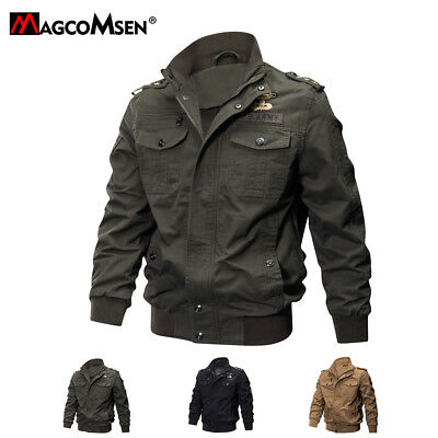 Mens MA-1 Flight Jacket Stylish Military Jacket Pilot Coats Cool US Army Jackets