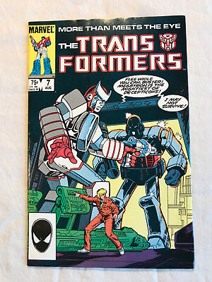 Transformers 7 (Aug., 1985) Marvel 9.0-9.2 comic book
