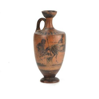 * An Attic Black Figure Lekythos, Classical Period, ca. 5th century BC