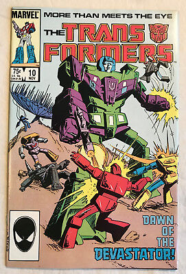 Transformers 10 (Nov., 1985) Marvel 8.5-9.0 comic book 1st App of Constructicons