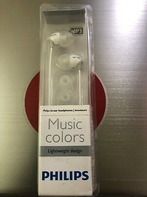 Philips SHE3581 In-Ear Headphones Music colours White //GENUINE