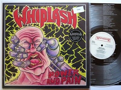 Whiplash - Power And Pain Lp Wax Maniax Us (Lim.100) Clear Vinyl Speed Metal !!!