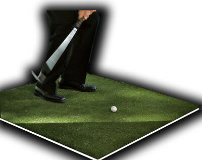 "Backyard Golf Mat 48"" x 48"" Pro Residential Practice Golf Turf Mat With Foam Pad"