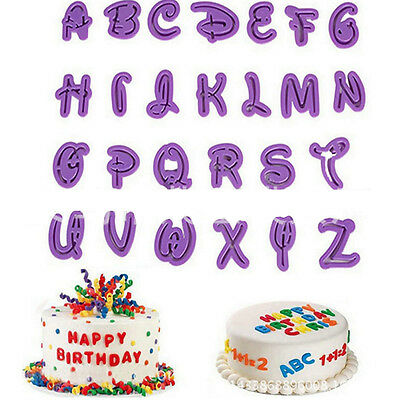 26Pcs/set Alphabet Number Letter Fondant Cake Cookie Cutter Pan Mold BiscuitRASk