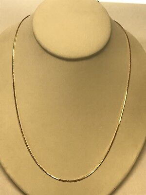 Beautiful 14KT Yellow Gold Designer 585 Linked Triangle Style Necklace Chain