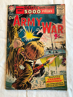 Our Army at War 49 (Aug., 1956) DC 5.5-6.0 comic book