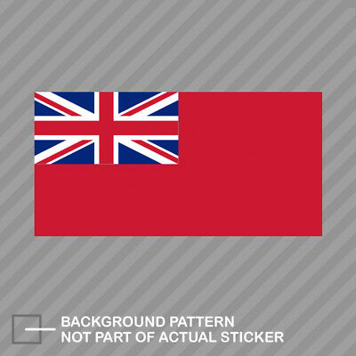 Royal Navy Red Ensign Flag Sticker Decal Vinyl red duster english