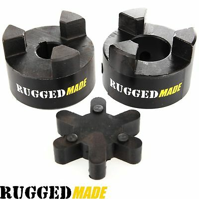 "3/4"" x 7/16"" Shaft Flexible Jaw Coupler & Rubber Spider L095 Lovejoy Coupling"