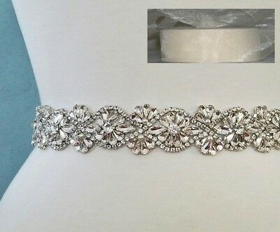 "Wedding Belt, Bridal Sash Belt- Crystal Pearl Sash Belt = 19"" long = IVORY SHEER"