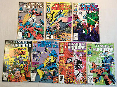 Transformers 11 12 13- 18 Marvel 7 comic book lot