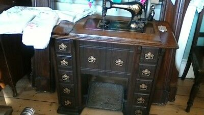 Singer Drawing Room Cabinet Sewing Machine Antique 1898