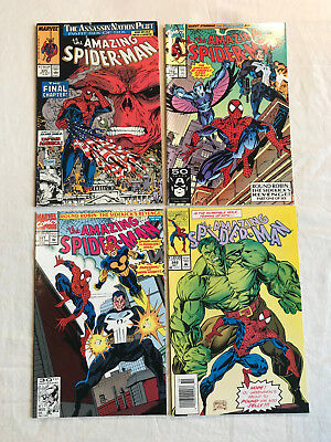 Amazing Spider-Man 325 353 357 382 Marvel 4 comic book lot j