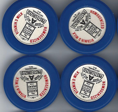 Lot of 20 The Gates Homestead Farms Milk Caps Never Used