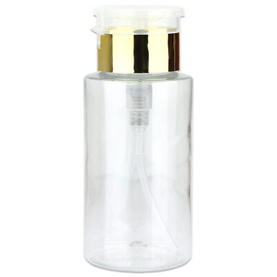 Pana 7 Oz Liquid Push Down Pump Dispenser Bottle with Flip Top Cap - Gold