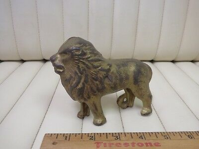1920s AC Williams Cast Iron Majestic Lion Coin Bank Original 4-1/2""