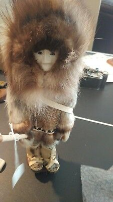 Eskimo Hunter Doll by Ruby Eninqowok great condition and very detailed