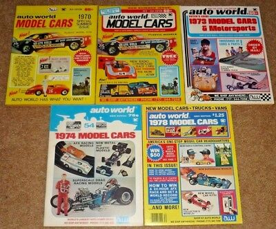 5 Auto World Model Cars Magazines Encyclopedia Catalogs 1970-77 #19 23 24 25 30