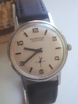 Vintage Mens Rare Richardson Of Leicester 190's Spaceage Hand Wind Watch