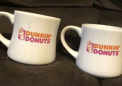 2 Resturant Style Dunkin Donuts Mugs