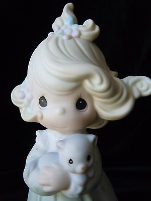Precious Moments Porcelain You Are Such A Purr-fect Friend #524395 Butterfly MIB