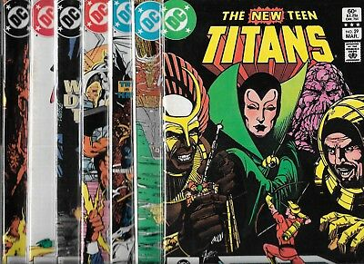 Tales Of The New Teen Titans Lot Of 13 #29 33 34 37 38 39 #40 41 45-47 49 51 Vf-