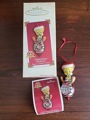 Looney Tunes Tweety Christmas Habitat Ornament Hallmark 2002
