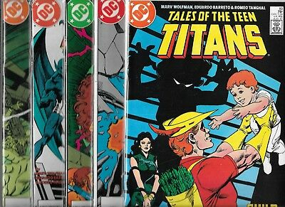 Tales Of The Teen Titans Lot Of 5 - #80 #82 #83 #84 #85 (Vf) Htf Later Issues
