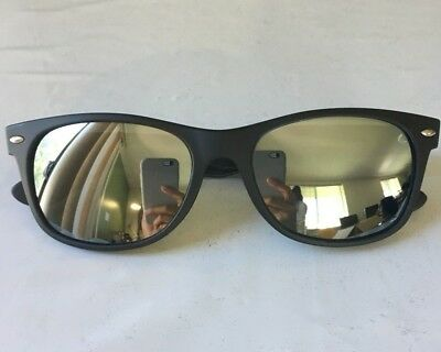 a3448da6c1 RAY BAN NEW Wayfarer 2132 622 30 55mm Matte Black Rubber Mirror New ...