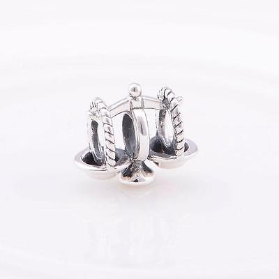 925 Sterling Silver Weighing Scales Balancing Bracelet Charm Bead Gift Boxed W5