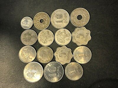 Vintage Vietnam Coin Lot - 1923-PRESENT - 15 Exotic Coins - Lot #712