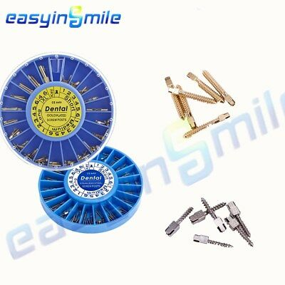 Easyinsmile 120/Pack Dental Stainless Steel Screw Posts Kits Assorted Two Colors