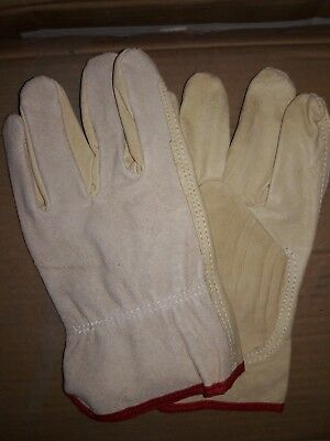*JULY CLOSEOUT SALE 1 Doz Pigskin/Cowhide Split Leather Drivers Gloves Size Smal
